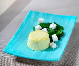 Tortino di uova e quartirolo con spinaci