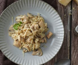 蘑菇嫩雞燉飯