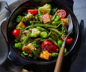 Sattmacher-Salat mit Halloumi