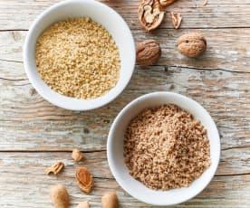 Noix ou noix de pécan finement moulues (150-250 g)