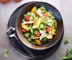 Mercimekli Enginarlı Tavuklu Semizotu Salatası