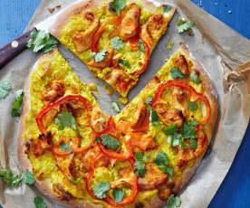 Curry-Hähnchen-Pizza
