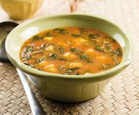 Sopa de beldroegas e tomate