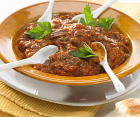 Ensalada marroquí de berenjenas (zaalouk)
