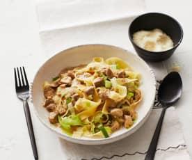 Nudeln mit Pilz-Sahne-Sauce