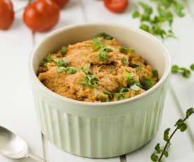 Ragoût de pain aux tomates et oignons