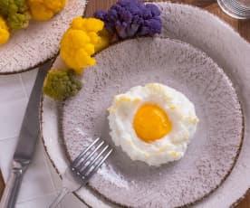 Uovo nuvola con cavolfiori