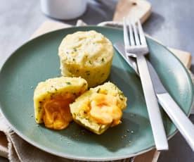 Kartoffelküchlein mit Cheddarkern