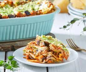Steamed Eggplant and Ricotta Lasagna