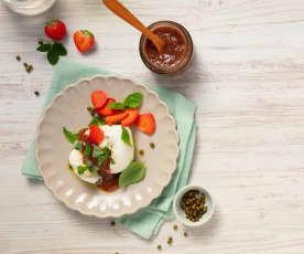 Erdbeerchutney mit grünem Pfeffer