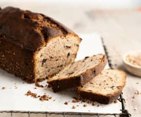 Bolo de chocolate e trigo sarraceno crocante
