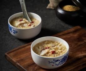 小米粥煮鱼片