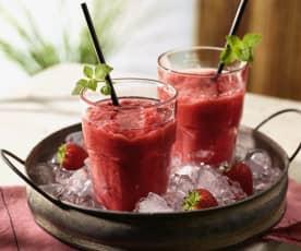 Erdbeer Slush mit Wodka