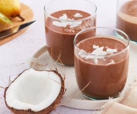 Smoothie coco, kiwi, poire et réglisse
