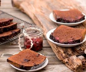 Ciasto kakaowe z wiśniami