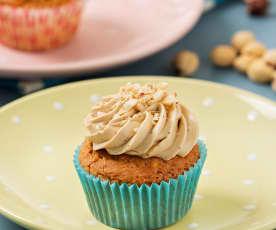 Cupcakes de café y avellanas