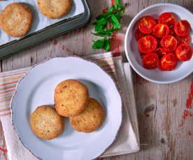 Polpette di tempeh con pomodorini confit (vegan)