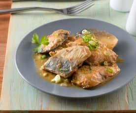 豆瓣味噌鯖魚煮