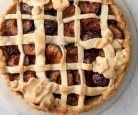 Plum Lattice Tart