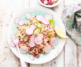 Salade de radis et boulgour aux herbes