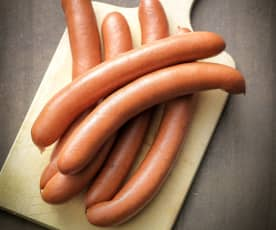 Steamed Frankfurter Sausages