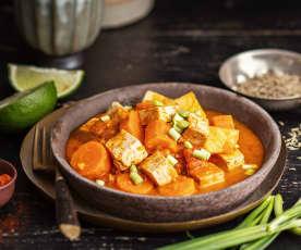 Curry au tofu fumé