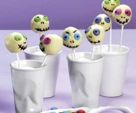 Gespenster-Cake-Pops
