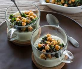 Yoghurt soup cups