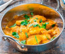 Chicken korma with cashews