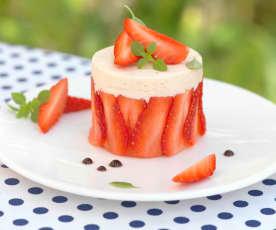 Bavarois tomate-fraise