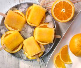 Orangen-Eislutscher