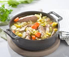 Caldo con ternera y verduras