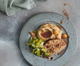 Polpettone di carne con purea di patate e castagne