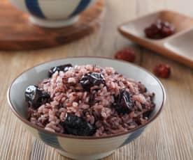 黑米紅棗飯