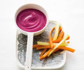 Sauce rose au yaourt