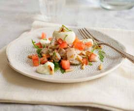 Ceviche vom Bachsaibling mit Limettencreme