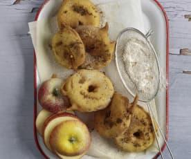 Gebackene Apfelringe mit Zimtzucker