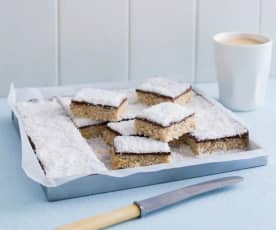 Raw lamington slice