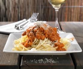 Spaghetti mit Kalbfleisch-Bolognese