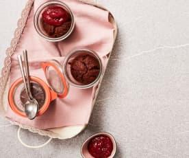 Kakao-Nuss-Kuchen im Glas