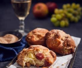 Schnelle Apfel-Trauben-Ballen