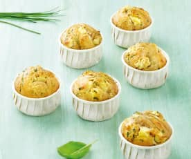 Muffins à la feta et aux herbes fraîches