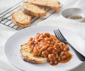 Speedy beans on toast