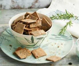 Crackers au sarrasin et romarin