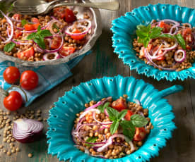 Lentil and mint salad