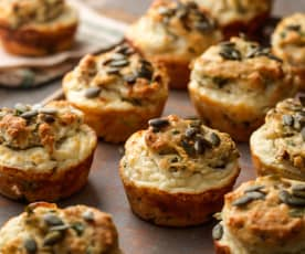 Feta, Olive and Herb Muffins