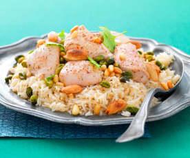 Poulet et riz aux sept-épices
