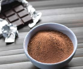 Chocolate amargo rallado fino (polvo de chocolate, 250-300 g)