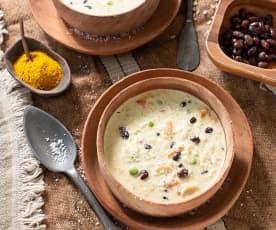 Sopa de coco y guisantes (Tanzania)