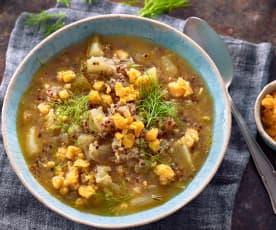 Zupa z fenkułem i komosą ryżową